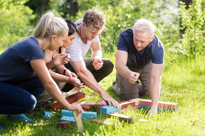 Kommunikation i fokus i en sjov øvelse